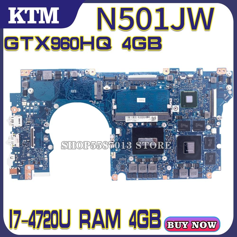 N501JW placa base de Computadora Portátil para ASUS ROG G501JW G501J N501J...