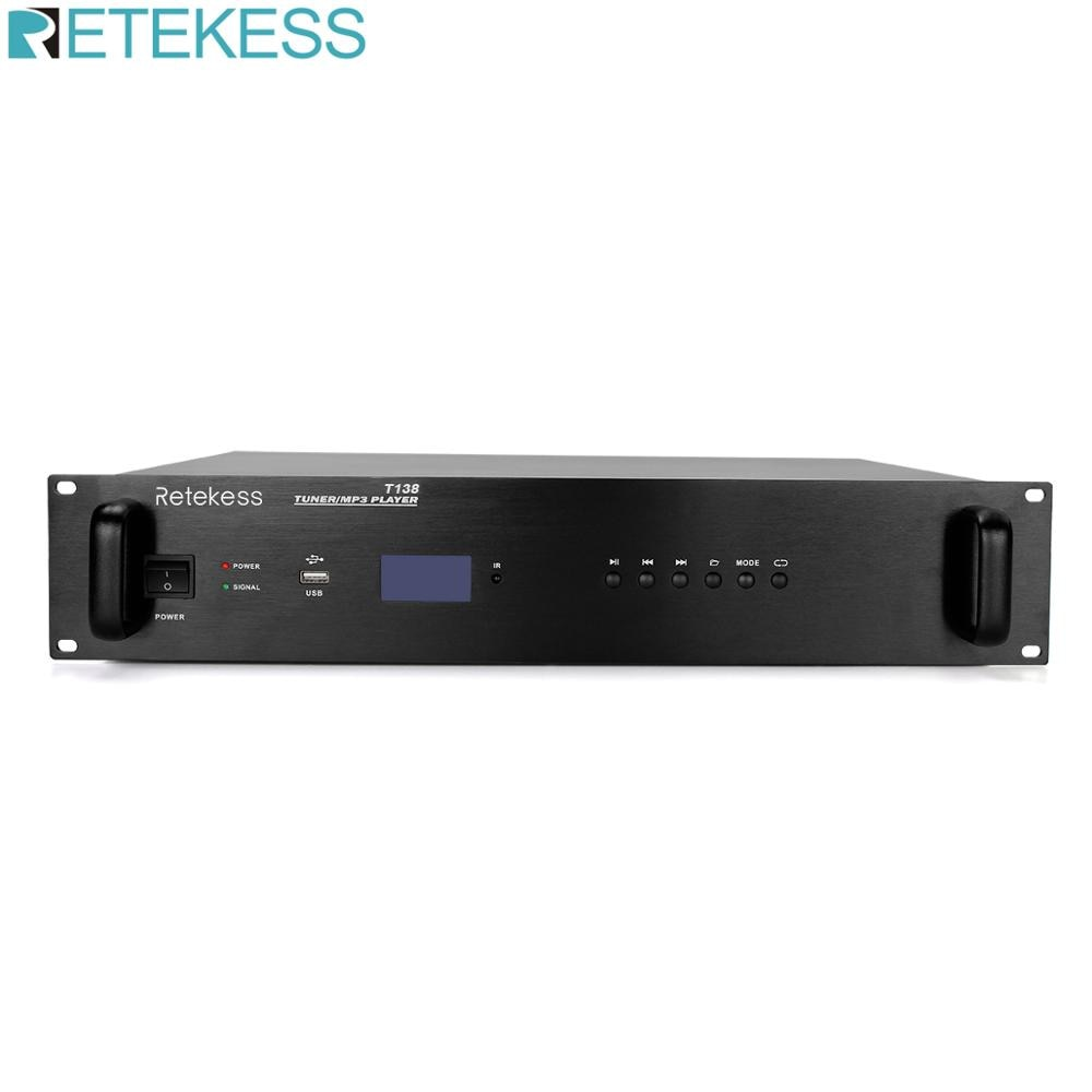 Retekess T138 LCD USB FM Receiver for Public Campus Broadcasting System Intelligent Timed Playback System School Church Airport