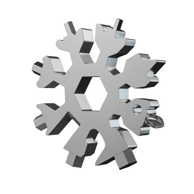 Многофункциональный гаечный ключ со снежинками, инструментальная сталь, шесть углов в восьмиугольном, 18 дюймов, переносной мини универсаль...
