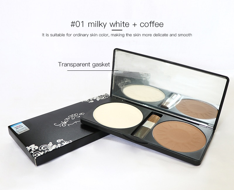 Фото - Two-color Concealer Power Palette Face Shading Grooming Powder Makeup 2 Colors Lasting Highlighter Face Make Up Contouring. miss rose professional makeup blusher long lasting 6 colors minerals powder natural face base blush contouring make up palette