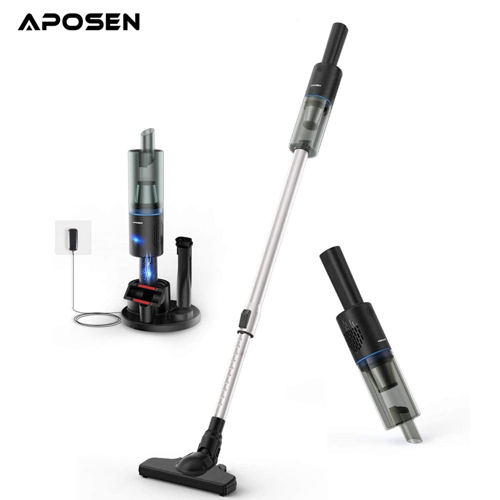 APOSEN Handheld Wireless Vacuum Cleaner For Home Sweeping 16000Pa Strong cyclone Suction Multi functional Brush Dust Catcher