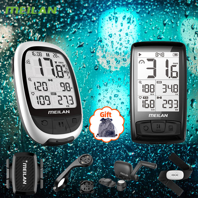 MEILAN M2 M4 Wireless Bicycle Counter Computer Odometer With LCD Display Kilometer for Cycling GPS Bike Riding Accessories