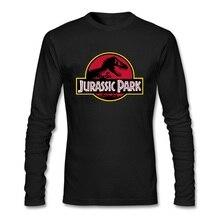 JURASSIC PARK hommes t-shirts dinosaure monde graphique hommes t-shirt jeunesse rue pull mâle à manches longues t-shirts printemps topshirt