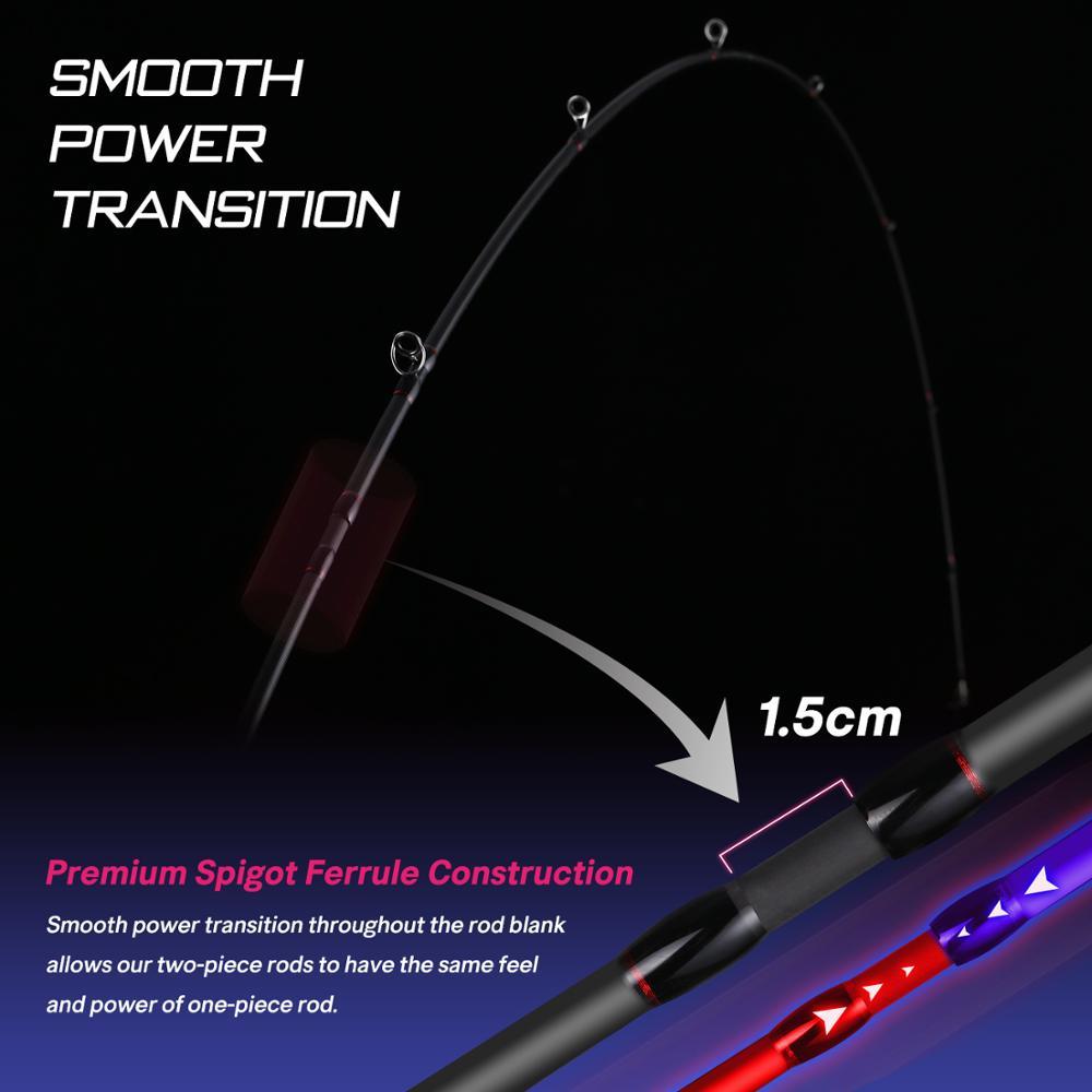 Brand Kraken Series Fishing Rod 2.4M 2.1M 1.98M FUJI Guide Lure Rod L ML M MH Power 30+40T Carbon Spinning Casting Rod enlarge