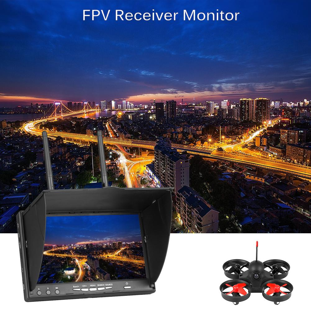 7 inch FPV Monitor Build-in Battery For FPV Multicopter Backlight Eachine LCD5802S 5.8G 40CH Automatic Signal Search enlarge