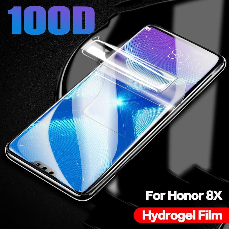 Película protectora 100D para Huawei Honor 8X 8S 8C 8A 20, película protectora de hidrogel para Huawei Mate 20 Pro 20Lite Light Film