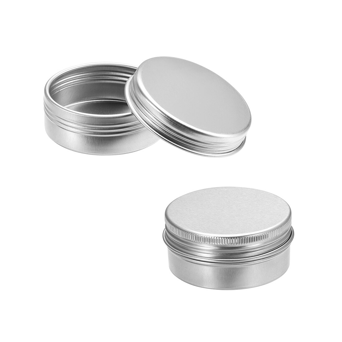 Latas redondas de aluminio uxcell, latas de hojalata para atornillar los recipientes con tapa de Metal para almacenar lociones hechas a mano, cremas para salsas, bálsamos, etc.