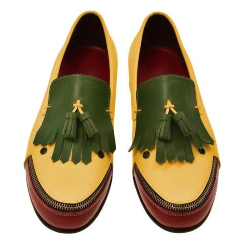Men Vintage Original Design Joker Loafers slip on Casual Shoes Dress Shoes Brogue  Spring Vintage Cl