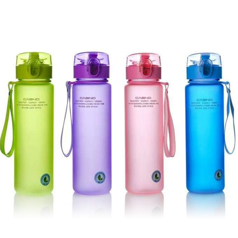 400/560ML Water Bottle Plastic Drinkware Tour Outdoor Sport School Leak Proof Seal Gourde Climbing Water Bottles