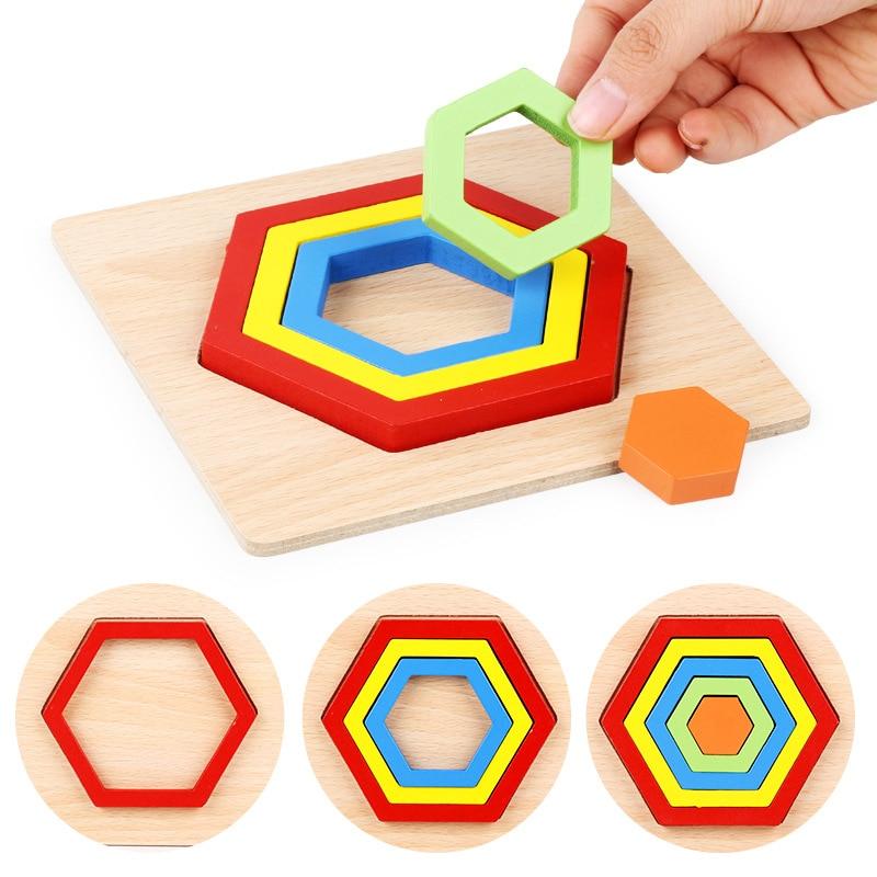 forma de geometria placa cognicao criancas montessori brinquedos de madeira criancas