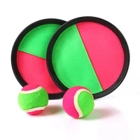 1set kids sucker sticky ball toy outdoor sports catch game set throw and parent child interactive toys zxh