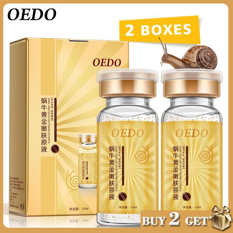 2 unid/lote Caracol, ácido hialurónico esencia suero para el cuidado de la piel profunda Facial Anti envejecimiento intensivo cara elevación reafirmante Anti arrugas
