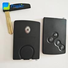 Carte de télécommande pour Renault Clio 4   Authentique, 4 boutons, 434 MHz, avec PCF7941, Hitag2, puce ID46