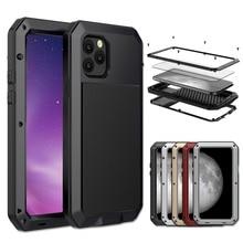 Armure 360 protection complète pour coque iphone 11 coque antichoc métal aluminium Doom robuste funda pour iphone 11 pro max housse