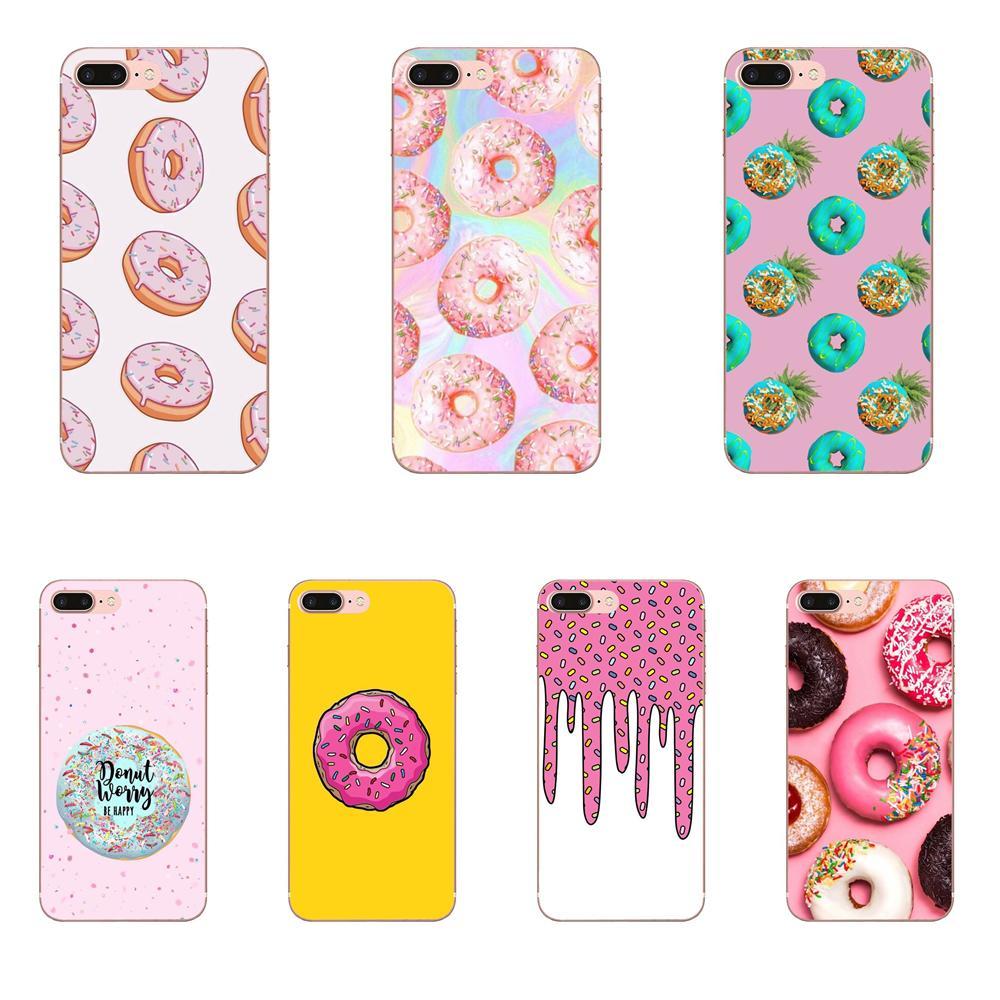 Delicioso Donut lindo colorido para Huawei Honor 4C 5A 5C 5X 6 6A 6X 7 7A 7C 7X 8 8C 8 9 10 10i 20 20i Lite Pro