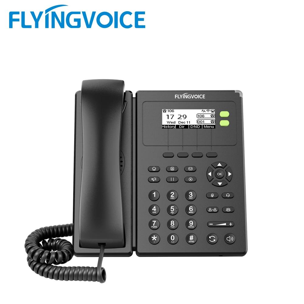 FlyingVoice الهاتف عبر بروتوكول الإنترنت FIP10P مع POE /SIP 2 Sip خطوط IP الهاتف دعم واي فاي الهاتف الثابت