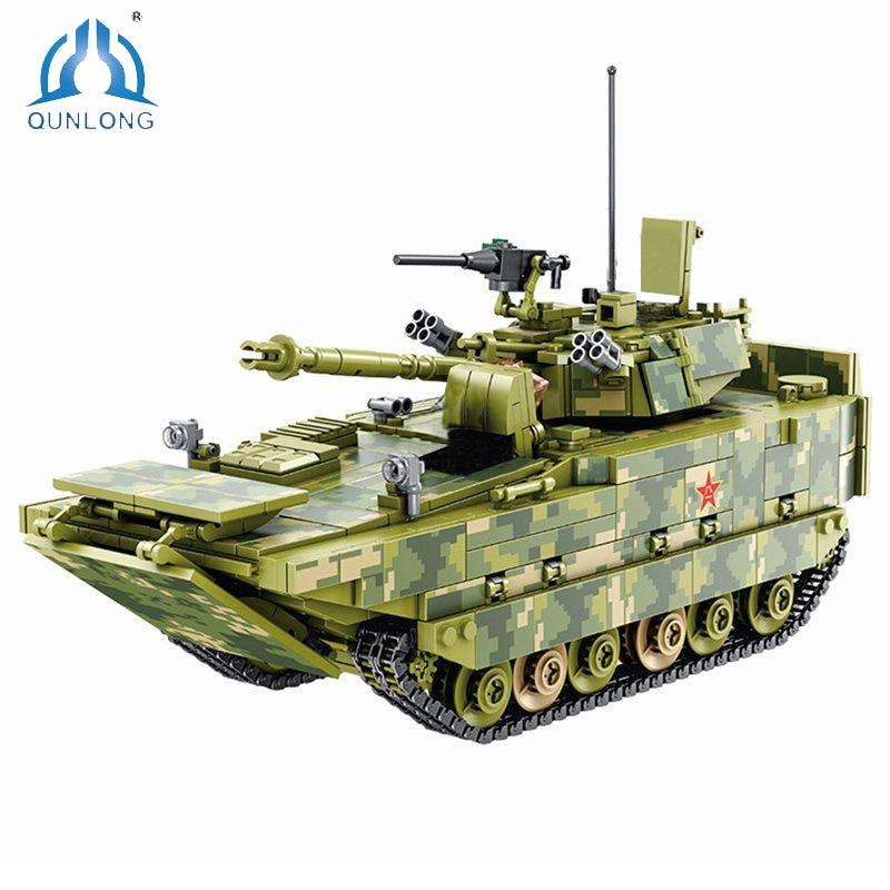Mailackers لعب للأطفال ZBD-05 نوع البرمائية المشاة القتال نموذج سيارة اللبنات النقر كتل مجموعات الأرقام