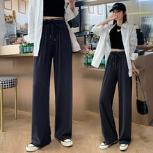 High Waist Drooping Slimming Versatile Straight Pants Suit Pants Casual Pants for Women