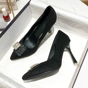 High Heeled Shoes Women's Thin Heeled Pointed Shallow Mouth Fashion Mary Jane Shoes High Heeled Women's Shoes zapatos de mujer