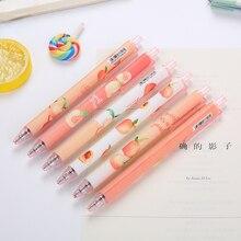1 Gel penna stilografica carina creativo Color pesca zucchero novità regali per ufficio materiale scolastico cancelleria penna a sfera Kawaii