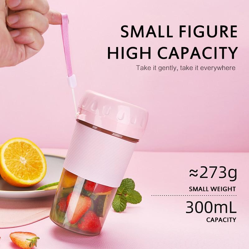 Портативная электрическая соковыжималка маленькая фруктовая чашка кухонный комбайн миксер 300 мл мини USB перезаряжаемая 40 секунд быстрого п...