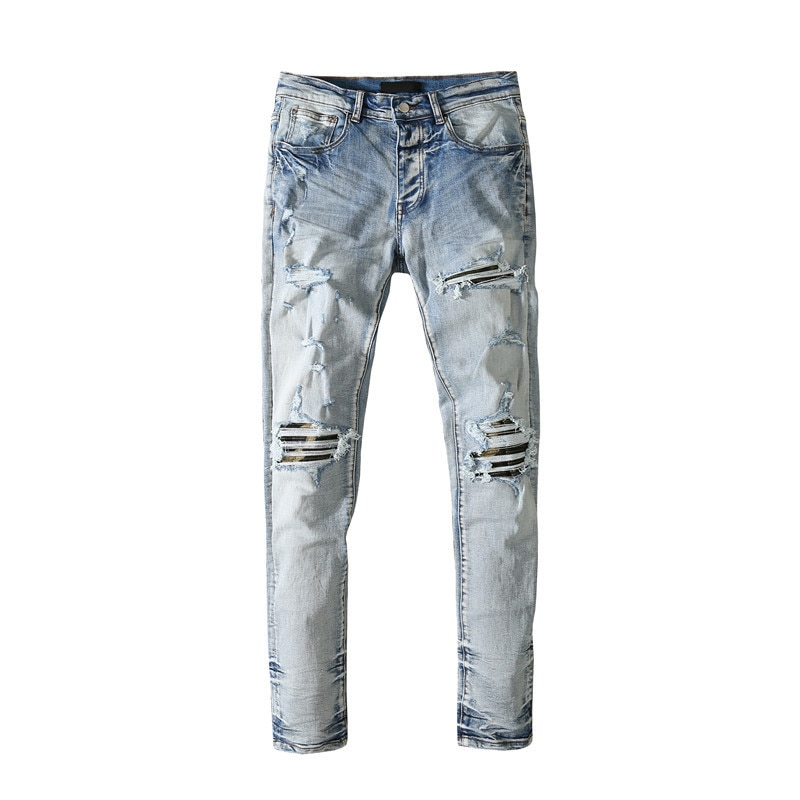 American Famous Brand AMR New Washed Vintage Ripped Jeans Man Pants Men's Clothing Sweatpants Traf Men Trousers Techwear
