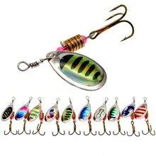 10 colori Peche Spinner esche da Pesca Wobblers CrankBaits Jig Shone cucchiaio di trota con paillettes in metallo con ganci per Pesca alla carpa Pesca