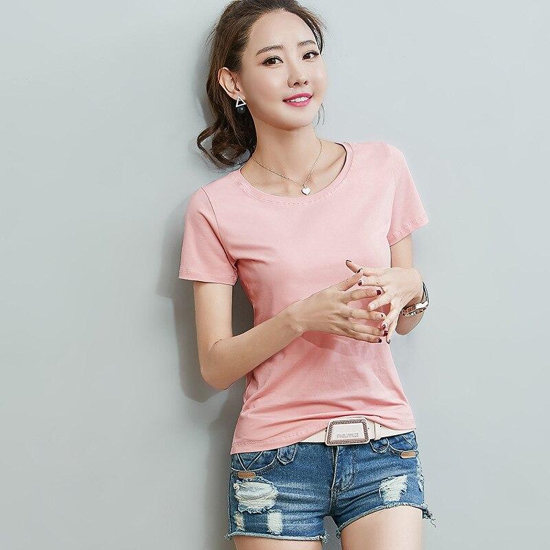 Camiseta de manga curta respirável de alta qualidade feminina de moda e lazer