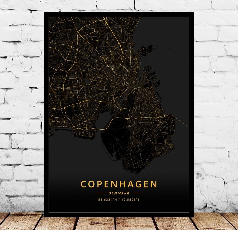 Cartel de Aalborg Arhus Hague Esbjerg Kolding odenso Randers Dinamarca