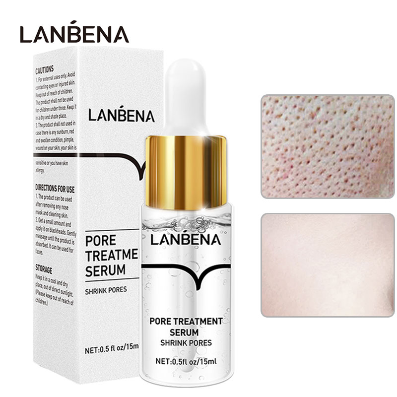 LANBENA Pore Shrink Serum Face Pores Treatment Essence Hyaluronic Acid Moisturizing Dryness Repair Bioaqua Facial Skin Care 15ML laikou hyaluronic acid face serum moisturizing shrink pores whitening brightening tighten facial essence liquidskin care 15ml