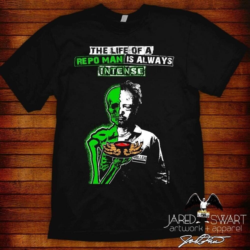 Repo hombre Camiseta Miller diseño de Jared swart basado en 1984 cult película clásica