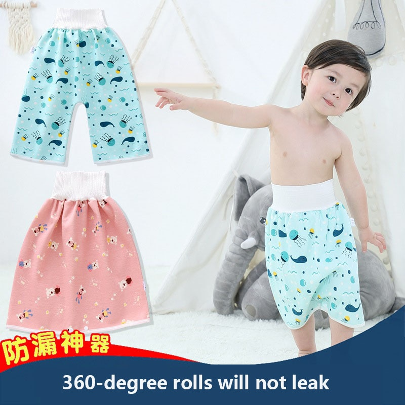 Hot sale 2-piece trousers + skirt washable and reusable baby diapers waterproof, leak-proof or diaper training pants