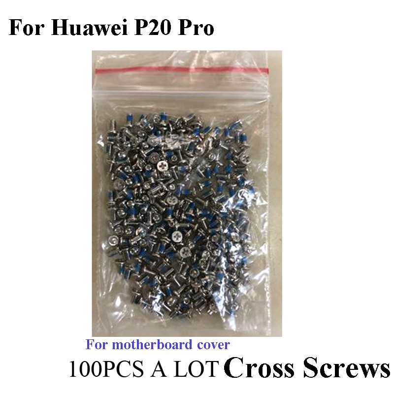 100 шт. для huawei p20 pro p 20 pro Материнская плата крест-накрест поперечный винт s корпус поперечный винт штифт с шляпкой p20 pro мобильные телефоны