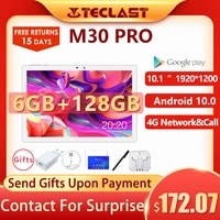 teclast m30 pro 10 1 inch tablet 1920x1200 ips 4g call dual wifi gps p60 8 core 6gb ram 128gb rom android 10 tablets pc