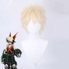 Anime mon héros académique bakou pas de héros Bakugou Katsuki Bakugo Cosplay perruque courte perruque synthétique fête Cosplay déguisement perruques