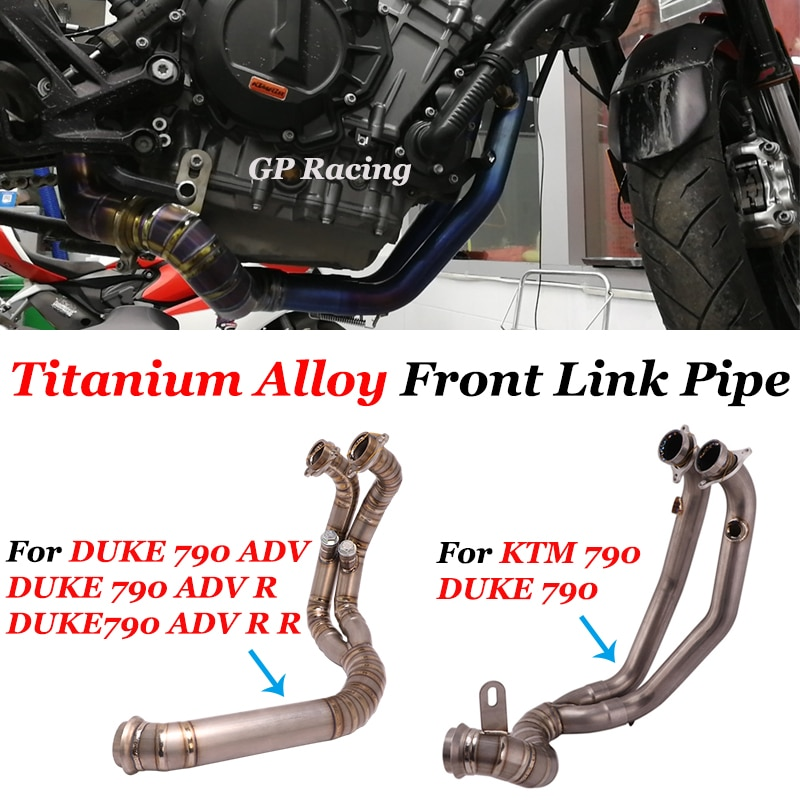 Slip On For DUKE 790 Duke 790 ADV R R Full System Titanium Alloy Motorcycle Exhaust Escape Front Link Pipe Connection Original