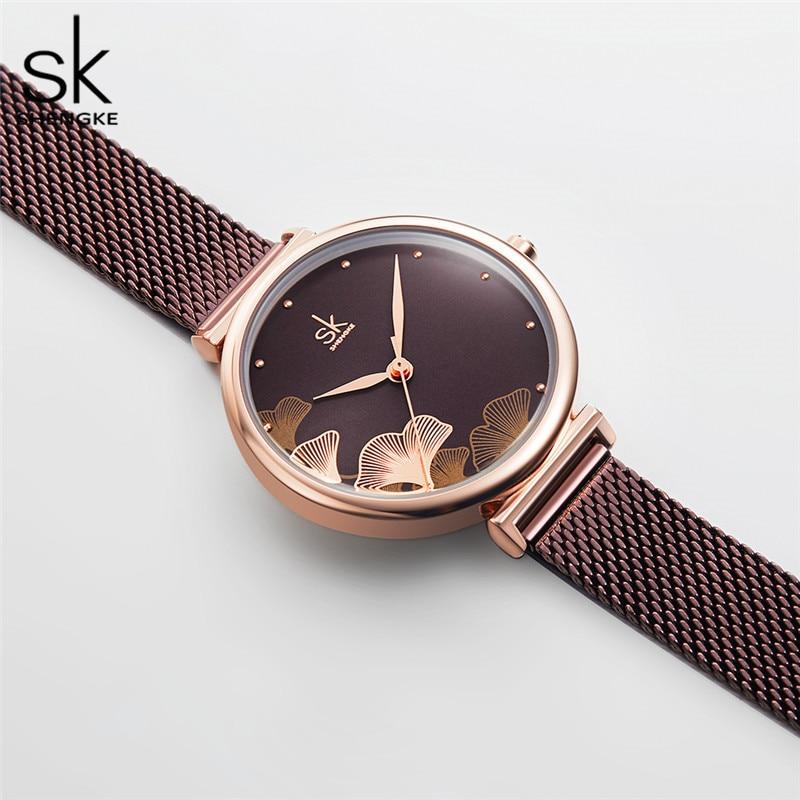 Shengke New Design Women Watches Elegant 32 MM Dial Blue Mesh Band Reloj Mujer Japanese Quartz Movement  Luxury Relogio Feminino enlarge