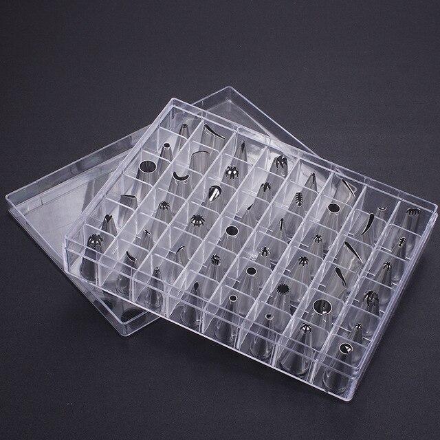 48 unids/set decoración de tartas buena calidad Acero inoxidable glaseado boquillas para pastelería juego de herramientas para hornear pasteles Accesorios