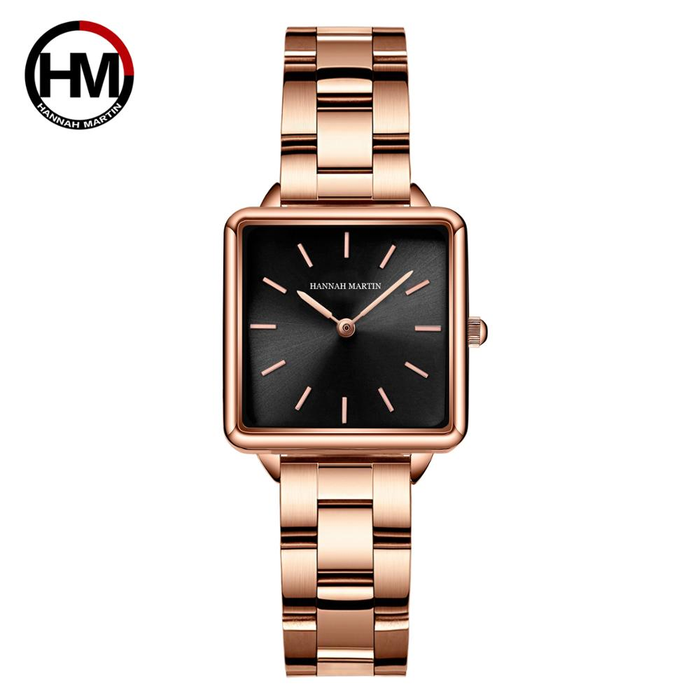 Japan Movement Drop Shipping Women Rose Gold Simple Fashion Casual Brand Wristwatch Luxury Lady Square Watches Relogio Feminino enlarge