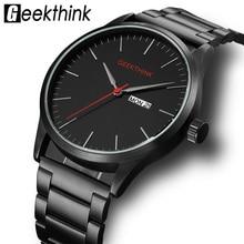Geekthink Military Japan Quartz Watches Men Fashion Casual Luxury Top Brand Mens Clock male Date Analog Designer Wrist watch
