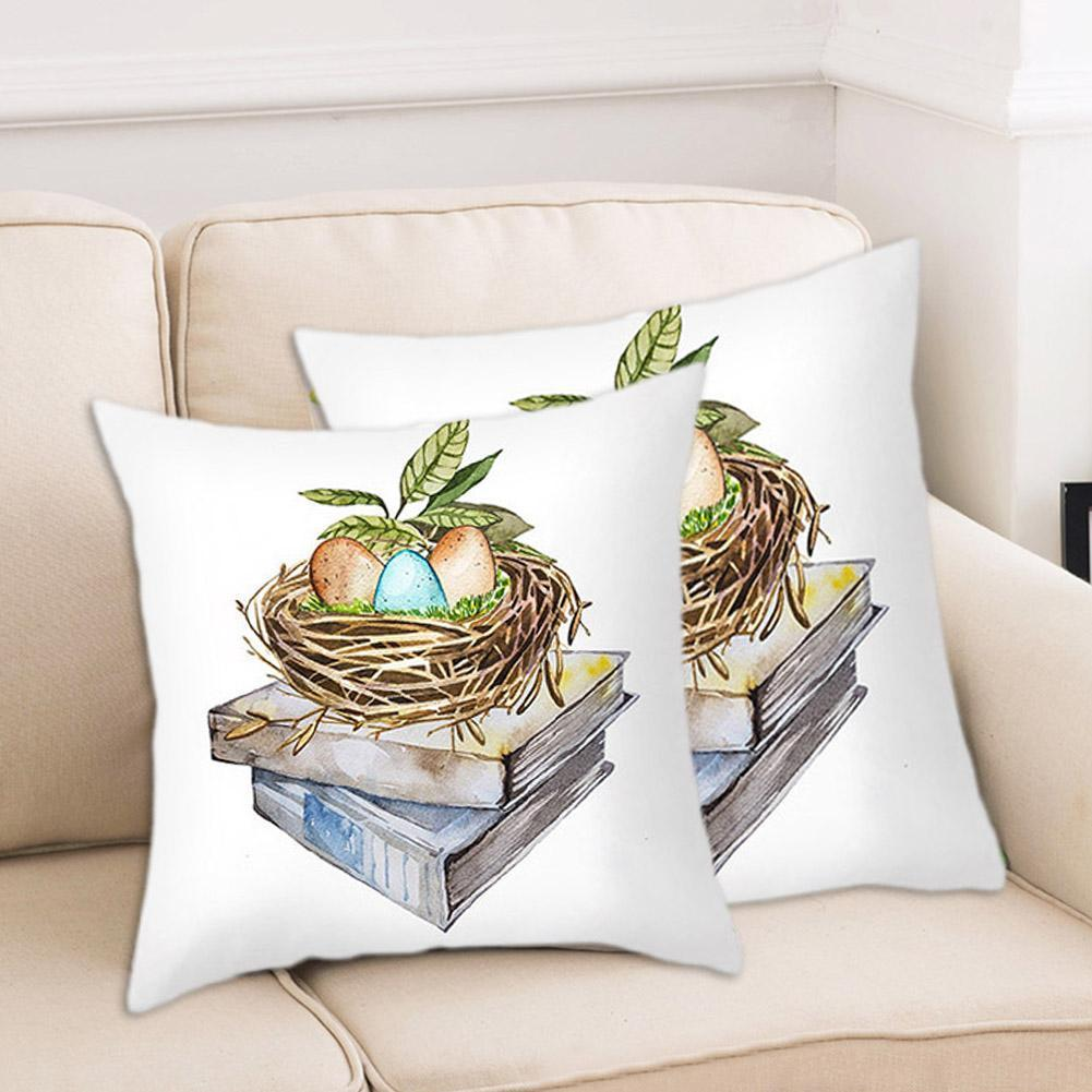 merry christmas cushion cover christmas decorations for home happy new year decor christmas ornament cotton linen pillow cover pillowcase 45cm x 45cm 2021 New 45CM X 45CM Cushion Cover Happy Cotton Rabbit For Home Sofa Case Decorations Cover Home Pillowcases Pillow Pillow V7H7