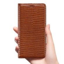 Étui à rabat en cuir véritable Grain lézard pour Huawei Honor 5X 5C 6A 6C 6X 7A 7C 7X 8A 8C 8S 8X 9X Pro Max Note 10 étuis de couverture de téléphone