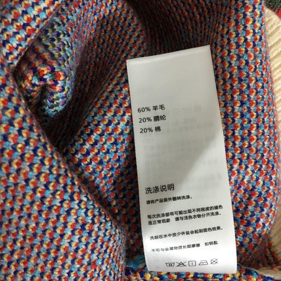 luxury design letter printing half zipper fashion women's high neck long sleeve Pullover temperament versatile knitted sweater enlarge
