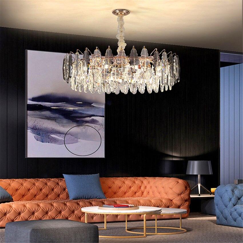 الفاخرة كريستال قلادة أضواء الحديثة Led غرفة المعيشة مصابيح متدلية فندق مطعم غرفة نوم داخلي إضاءة ديكورية بريق