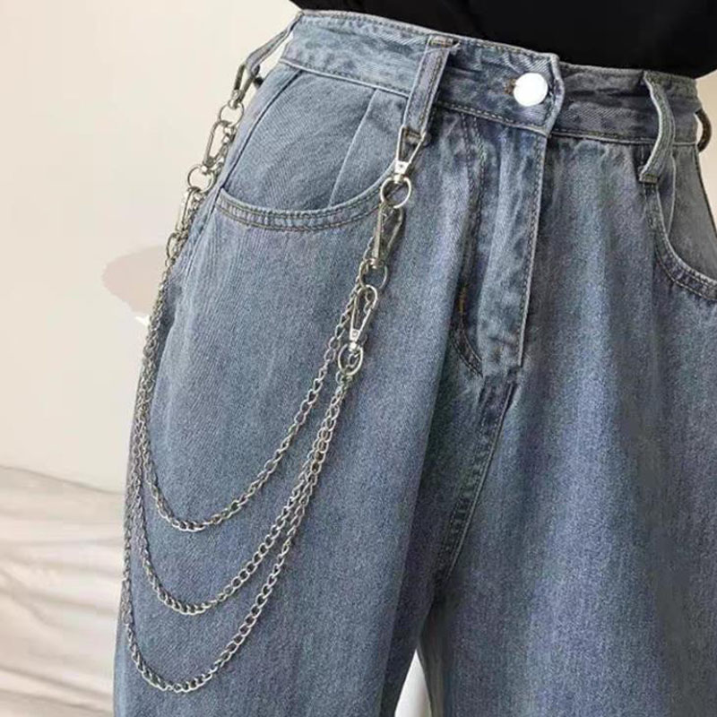 2020 Punk Street Trouser Key Chains For Women Men Vintage Metal Wallet Belt Chain Hipster Keychain P