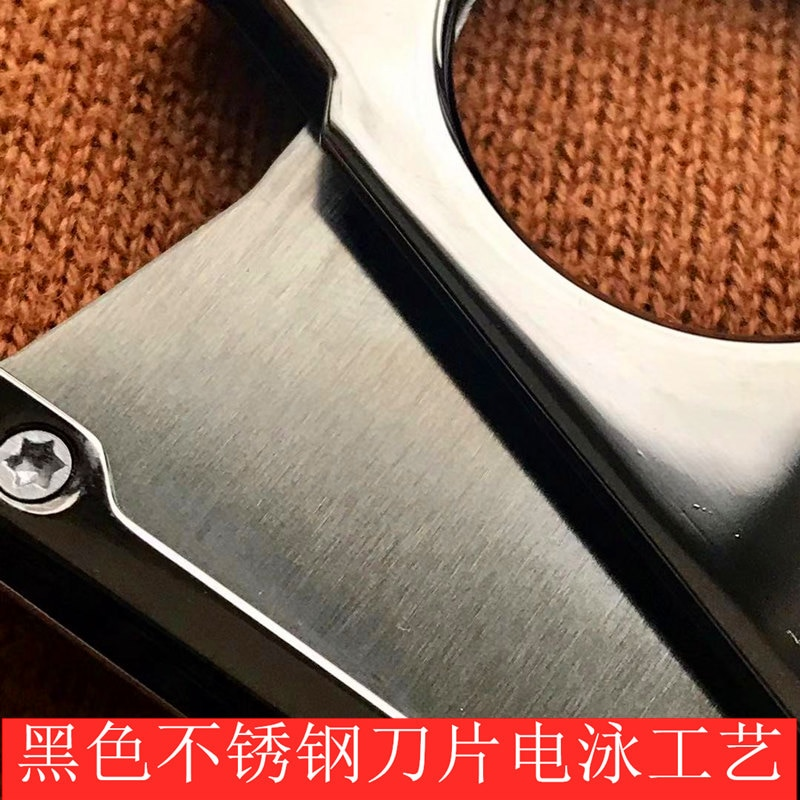 Double Edged Cigar Cutter Black Stainless Steel Portable Sharp Cigar Cutter Smoking Accessories Fumar Household Products DG50XJ enlarge
