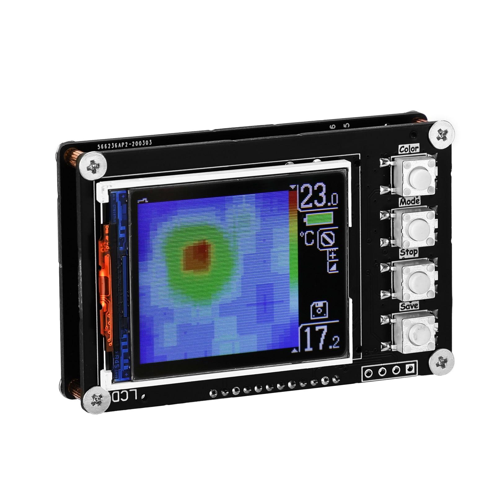حساس حراري بسيط AMG8833 مستشعر 1.6 بوصة شاشة عرض TFT 10 هرتز معدل تحديث البيانات كاميرا تصوير حراري تصوير حراري