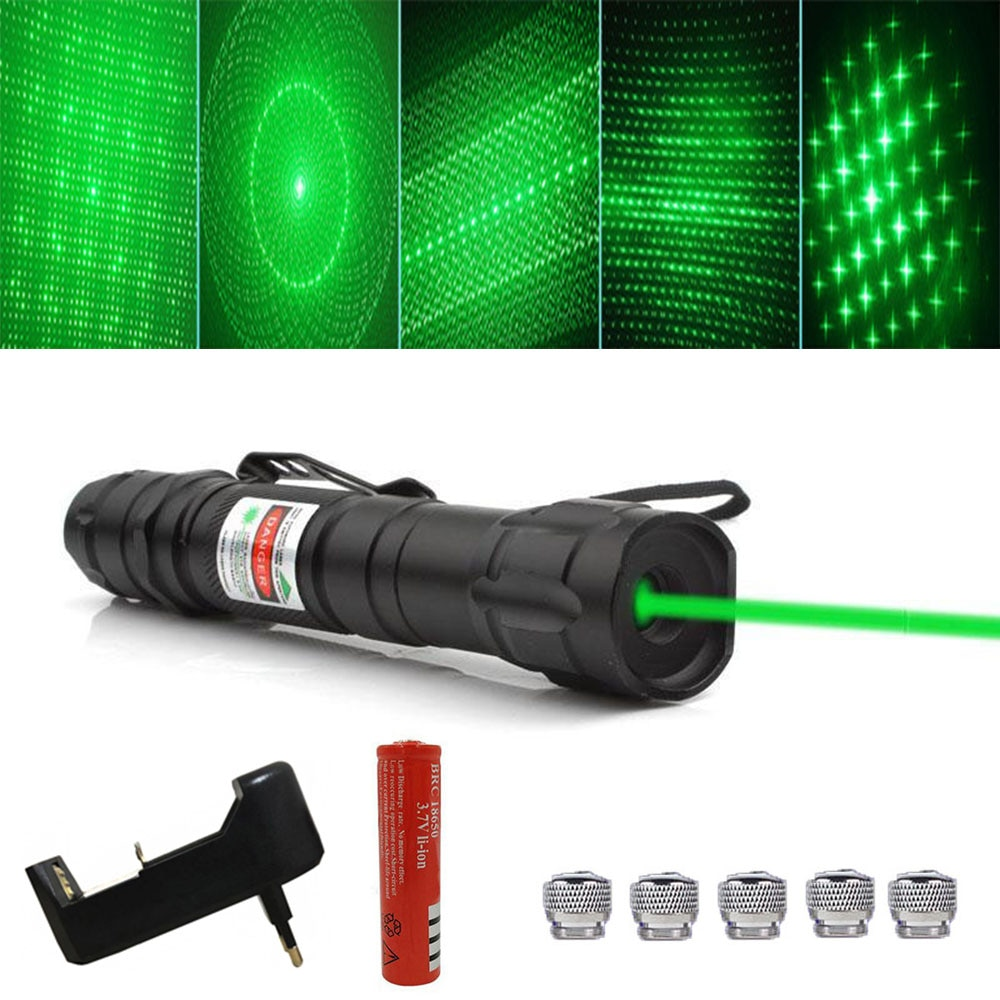 Мощный зеленый лазерный прицел 5 МВт 18650 нм зеленая точка лазерная указка мощное лазерное оборудование тактическая лазерная указка