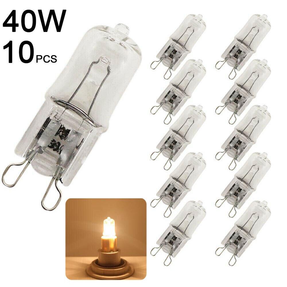 10 шт. Замена 230V 40W G9 галогенные Светильник лампы капсулы светодиодный светильник теплый белый светильник ing лампы высокой Яркость