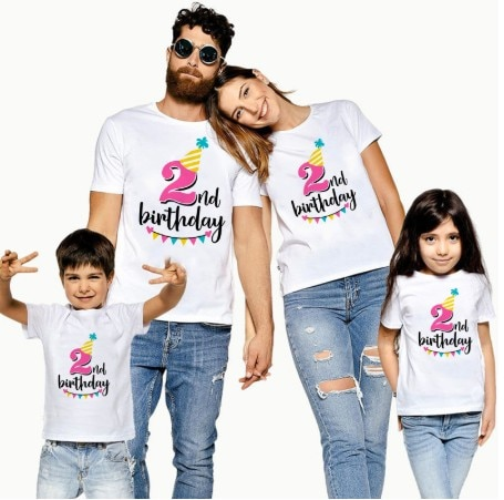 First Birthday Dad&mom Tshirt Daddy Son T Shirt Mommy Daddy and Baby Kids 1st Birthday Family Matching Clothes Outfit KT-2234